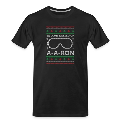A-A-Ron Christmas - Men's Premium Organic T-Shirt