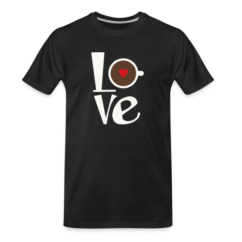 Love Coffee - Men's Premium Organic T-Shirt