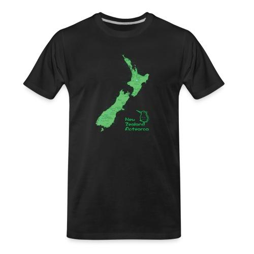 New Zealand's Map - Men's Premium Organic T-Shirt