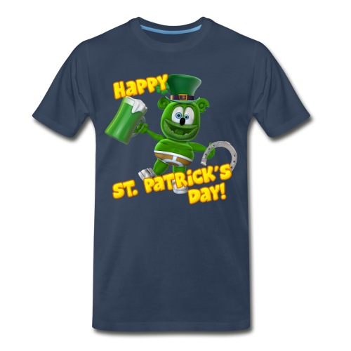 Gummibär (The Gummy Bear) Saint Patrick's Day - Men's Premium Organic T-Shirt