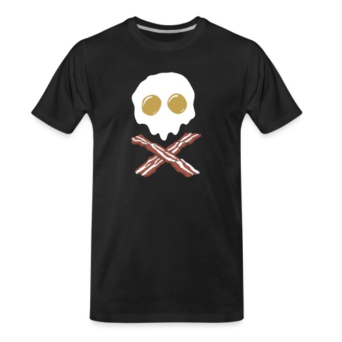 Breakfast Skull - Men's Premium Organic T-Shirt