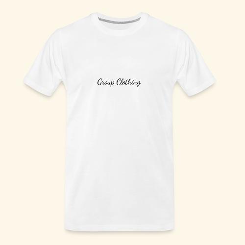 Cursive Black and White Hoodie - Men's Premium Organic T-Shirt