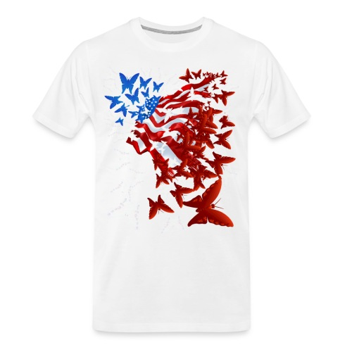 The Butterfly Flag - Men's Premium Organic T-Shirt
