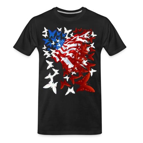 The Butterfly Flag - Men's Premium Organic T-Shirt