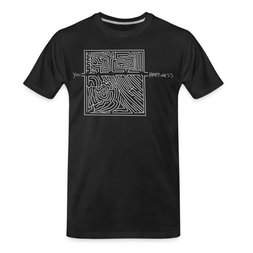 Happiness (White Print) - Men's Premium Organic T-Shirt