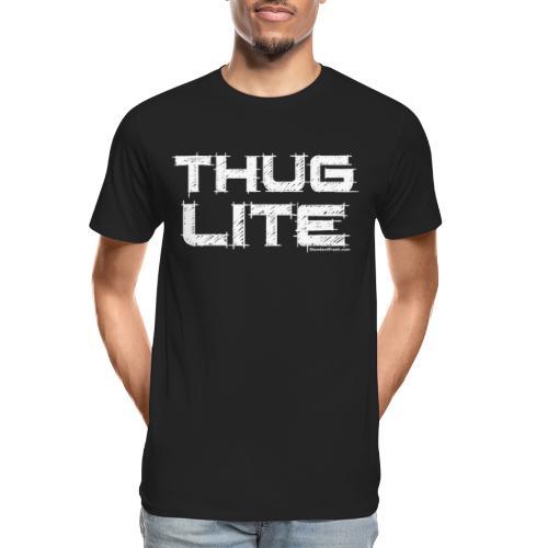 Thug Lite WHT.png - Men's Premium Organic T-Shirt
