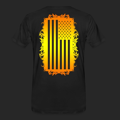 Wicked Dano US Flag - Men's Premium Organic T-Shirt