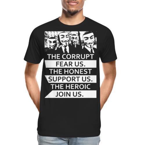 Anonymous 5 - Men's Premium Organic T-Shirt