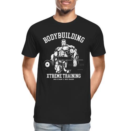 bodybuilding fitness gym - Men's Premium Organic T-Shirt