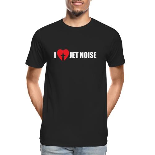 I Love Jet Noise Aviation Heart - Men's Premium Organic T-Shirt