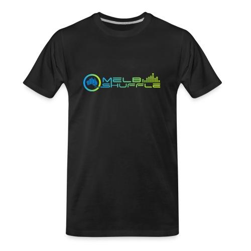 Melbshuffle Gradient Logo - Men's Premium Organic T-Shirt