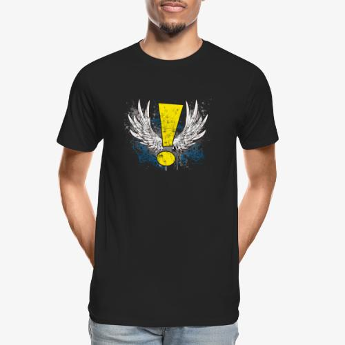 Winged Whee! Exclamation Point - Men's Premium Organic T-Shirt