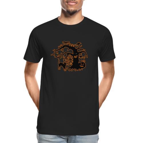 Halloween tree - Men's Premium Organic T-Shirt
