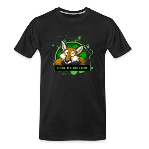 Beer-o-Clock Fox - Men's Premium Organic T-Shirt