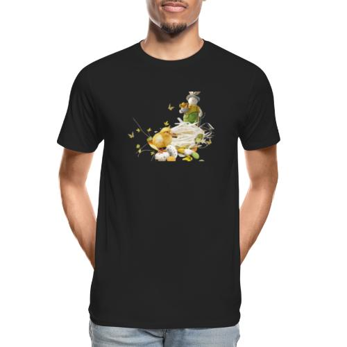 easter bunny easter egg holiday - Men's Premium Organic T-Shirt
