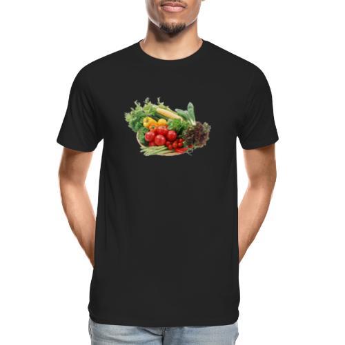 vegetable fruits - Men's Premium Organic T-Shirt