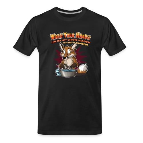 Wash Your Hands (red) - Men's Premium Organic T-Shirt