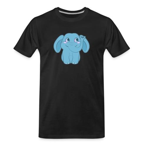 Baby Elephant Happy and Smiling - Men's Premium Organic T-Shirt