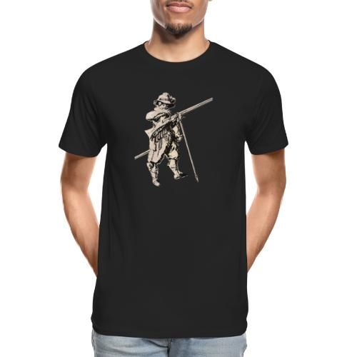 Soldier with mosquet - Men's Premium Organic T-Shirt