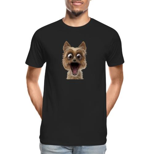 Dog puppy pet surprise pet - Men's Premium Organic T-Shirt