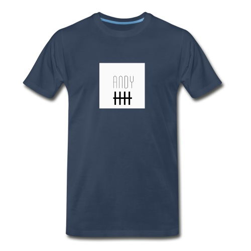 Andy Logo With 5 - Men's Premium Organic T-Shirt
