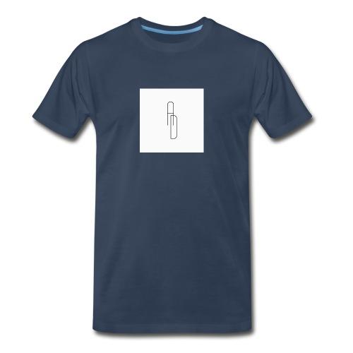 White And Black AD Logo - Men's Premium Organic T-Shirt