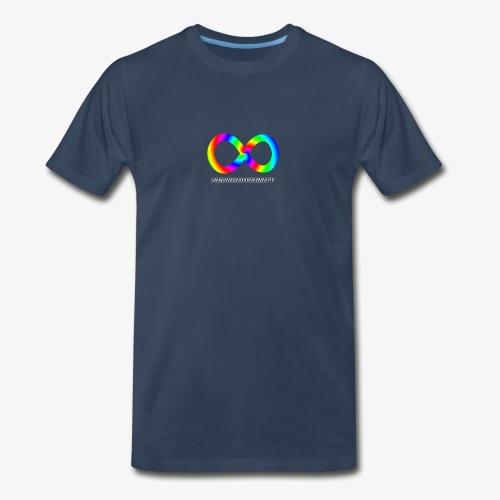 Neurodiversity with Rainbow swirl - Men's Premium Organic T-Shirt
