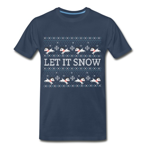 Ugly Holiday Sweater: Featuring Sparky - Men's Premium Organic T-Shirt
