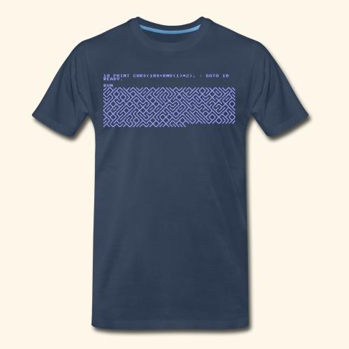 10 PRINT CHR$(205.5 RND(1)); : GOTO 10 - Men's Premium Organic T-Shirt
