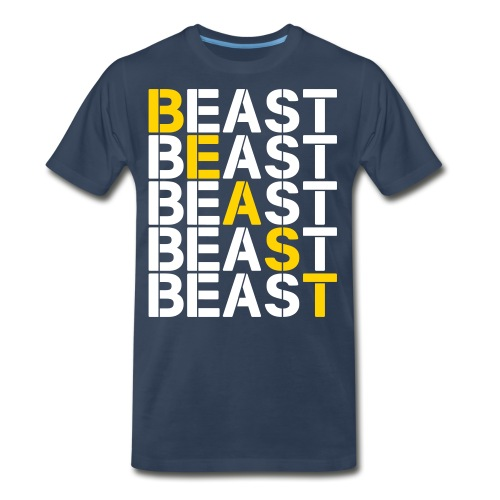 BEAST BEAST BEAST - Men's Premium Organic T-Shirt