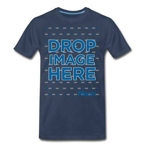 DROP IMAGE HERE - Placeit Design - Men's Premium Organic T-Shirt
