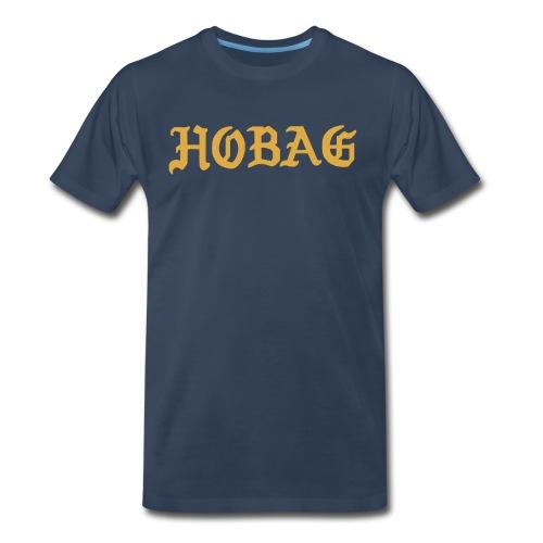 BLUE - HOBAG LETTERING - Men's Premium Organic T-Shirt