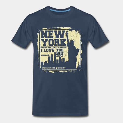 new york usa - Men's Premium Organic T-Shirt