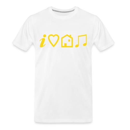 I Heart House Music - Symbolic Design 1 - Men's Premium Organic T-Shirt
