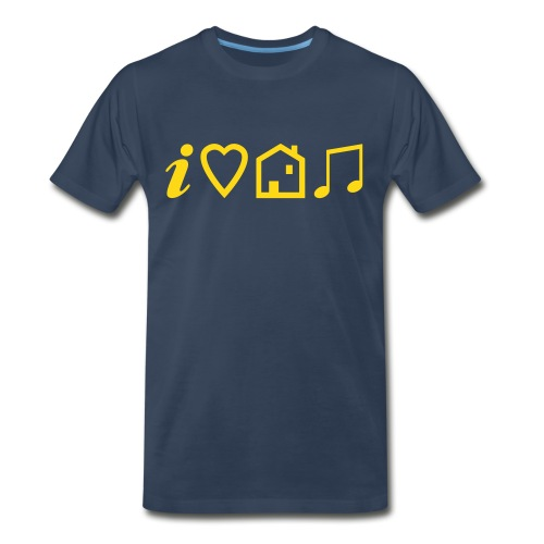 I Heart House Music - Symbolic Design 1 - Men's Premium Organic T-Shirt
