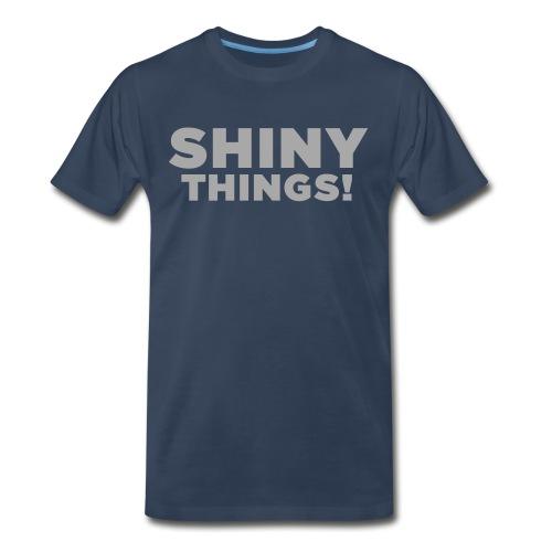 Shiny Things. Funny ADHD Quote - Men's Premium Organic T-Shirt