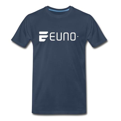 EUNO LOGO LANDSCAPE WHITE - Men's Premium Organic T-Shirt