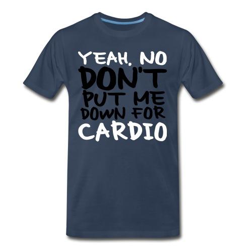 No Cardio - Men's Premium Organic T-Shirt