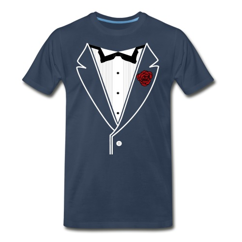 Tuxedo w/White Lapel - Men's Premium Organic T-Shirt