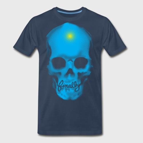Finally Skull Cyan - Men's Premium Organic T-Shirt