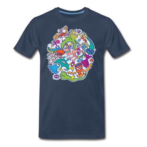 Summer swimming with weird dangerous sea creatures - Men's Premium Organic T-Shirt