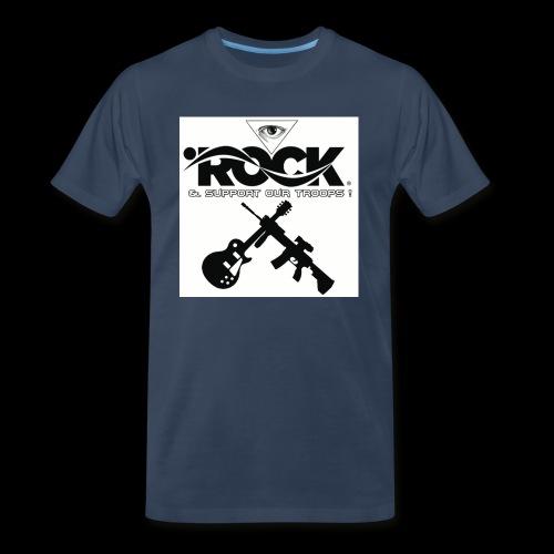 Eye Rock & Support The Troops - Men's Premium Organic T-Shirt