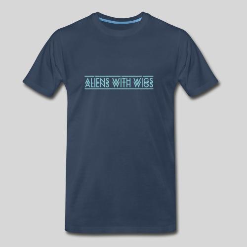 AliensWithWigs-Logo-Bleu - Men's Premium Organic T-Shirt