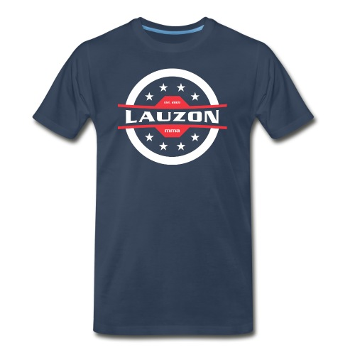 White on Black Lauzon MMA Logo w No Words - Men's Premium Organic T-Shirt