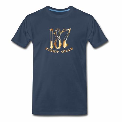 187 Fight Gear Gold Logo Street Wear - Men's Premium Organic T-Shirt