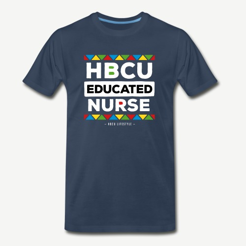 HBCU Educated Nurse - Men's Premium Organic T-Shirt