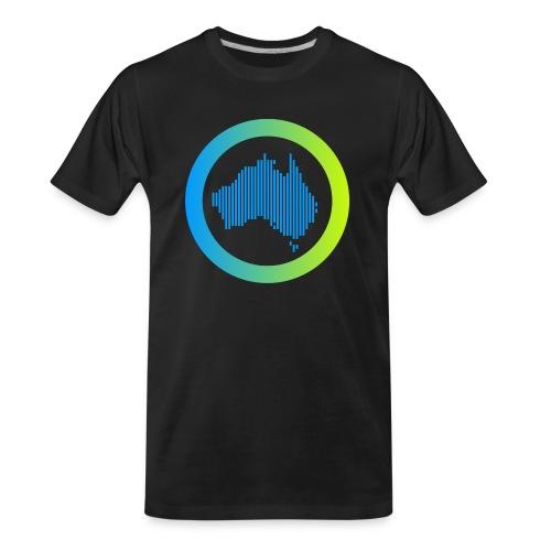 Gradient Symbol Only - Men's Premium Organic T-Shirt