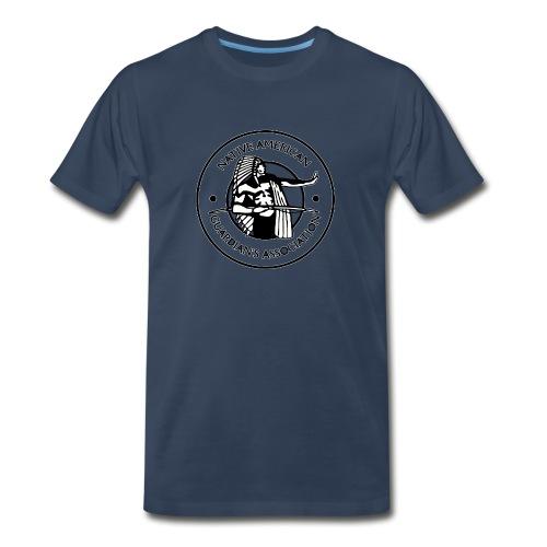 Naga LOGO Outlined - Men's Premium Organic T-Shirt