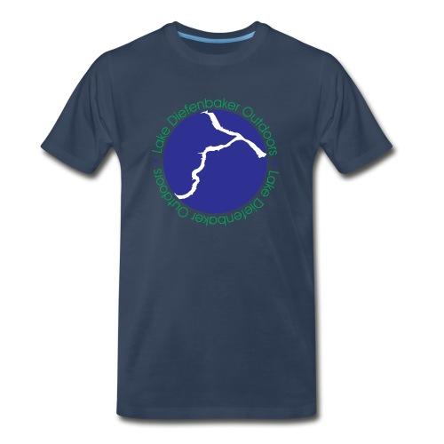 LDO WHITE LOGO - Men's Premium Organic T-Shirt