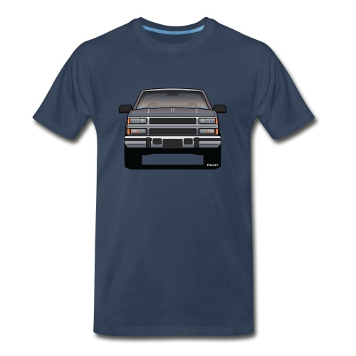 Design Icon: American Bowtie Silver Urban Truck - Men's Premium Organic T-Shirt